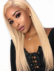 cheap -Synthetic Lace Front Wig Straight Middle Part with Baby Hair Lace Front Wig Blonde Very Long Light Blonde Synthetic Hair 30 inch Women's with Baby Hair Party Women Blonde