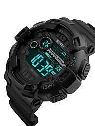 Недорогие -SKMEI Муж. электронные часы Цифровой силиконовый Черный 50 m Защита от влаги Календарь С двумя часовыми поясами Цифровой На каждый день На открытом воздухе - Золотой Черный Красный