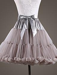 cheap -Ballet Dancer Classic Lolita 1950s Dress Petticoat Hoop Skirt Tutu Crinoline Women's Girls' Tulle Costume Black / Dark Grey / White Vintage Cosplay Wedding Party Performance Princess