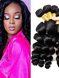cheap -3 Bundles Brazilian Hair Loose Wave Unprocessed Human Hair 100% Remy Hair Weave Bundles Natural Color Hair Weaves / Hair Bulk Bundle Hair Human Hair Extensions 8-28 inch Natural Human Hair Weaves