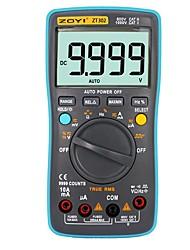 Недорогие -zoyi zt302 измерение 9999 отсчетов мультиметр автоматический диапазон true среднеквадратичное значение цифровой электрический тестер