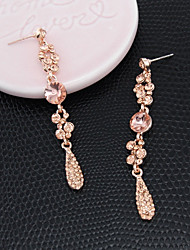 cheap -Women's Drop Earrings Long Teardrop Stylish Bridal bridesmaid Imitation Diamond Earrings Jewelry Silver / Champagne For Wedding Engagement Street Club Bar 1 Pair