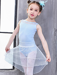 cheap -Kids' Dancewear / Ballet Outfits Girls' Training / Performance Cotton Lace Sleeveless Natural Leotard / Onesie / Tutus