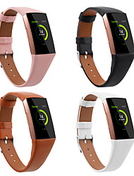 cheap -1 PCS Watch Band for Fitbit Sport Band Genuine Leather Wrist Strap for Fitbit Charge 3