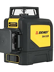 cheap -Sndway 8 lines 2D Laser Level Self-Leveling 360 Horizontal And Vertical Cross Powerful Red Laser Beam Line leveler SW-332R
