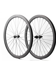"""cheap -FARSPORTS 27.5"""" Wheelsets Cycling 30 mm Road Bike Carbon Fiber Clincher / Tubeless Compatible 28/28 Spokes 40 mm"""