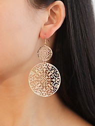 cheap -Women's Drop Earrings Vintage Style Hollow Out Flower Simple Unique Design Sweet Rose Gold Plated Earrings Jewelry Black / Gold / Silver For Party Gift Festival 1 Pair