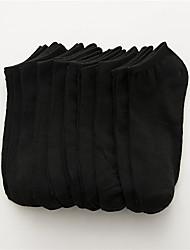 abordables -10 paires Homme Chaussettes Couleur Pleine Déodorant Coton EU36-EU42