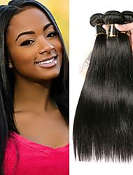 cheap -3 Bundles Mongolian Hair Straight 100% Remy Hair Weave Bundles Natural Color Hair Weaves / Hair Bulk Bundle Hair Human Hair Extensions 8-28 inch Natural Color Human Hair Weaves Odor Free Creative