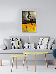 cheap -Framed Canvas Framed Oil Painting - Abstract Plastic Oil Painting Wall Art