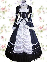 cheap -Vintage Princess Lolita Elegant Dress Cosplay Costume Female Japanese Cosplay Costumes Red / Blue / Pink Patchwork Petal Sleeve Long Sleeve Maxi Long Length