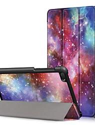 Недорогие -Кейс для Назначение Lenovo Lenovo Tab 7 Защита от пыли / Флип / Авто Режим сна / Пробуждение Чехол Однотонный Твердый Кожа PU