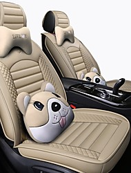 cheap -Car Seat Covers Headrest & Waist Cushion Kits Beige / Coffee / Black / Red PU Leather / Artificial Leather Business / Functional For universal All years General Motors