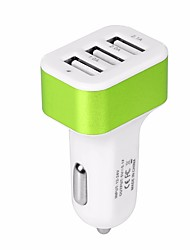 cheap -Car Charger USB Car Adapter Phone Chargers with 12V-24V Input Fast Charging Intelligent Power 5V/5.1A 3 Port Car Charger Compatible with iPhone, iPad, Samsung, Huawei and More
