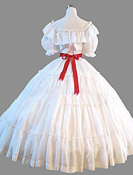 cheap -Princess Rococo Victorian Dress Party Costume Costume Women's Cotton Costume White Vintage Cosplay Masquerade Party & Evening Short Sleeve Floor Length Long Length Plus Size