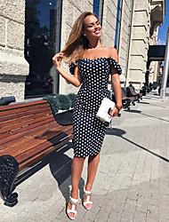 cheap -Women's Bodycon Dress Blue Wine L XL XXL