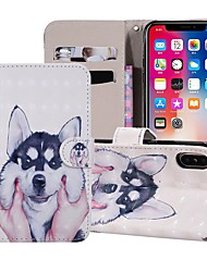 cheap -Case For Apple iPhone XR / iPhone XS Max Magnetic / Flip / with Stand Full Body Cases Dog Hard PU Leather for iPhone 5c/SE/5s/iPhone 6S/6S Plus/7/7 Plus/X/XS/8 /8 Plus