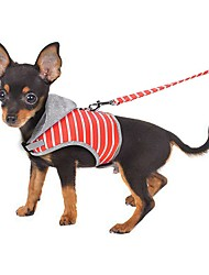 cheap -Cat Harness Portable Mini Walking Adjustable / Retractable Solid Colored Oxford Cloth Fabric Baby Pet Pink Orange