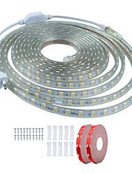 cheap -10m LED Light Strips Waterproof Tiktok Lights 600 LEDs SMD5050 1Set Mounting Bracket 1 set Warm White White Red Cuttable Decorative 220-240 V IP68