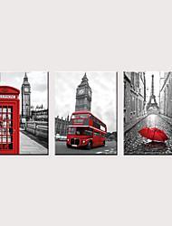 abordables -Imprimé Impressions sur toile roulées - Célèbre Architecture Classique Trois Panneaux Art Prints