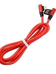 Недорогие -Micro USB Кабель 1m-1.99m / 3ft-6ft Быстрая зарядка Кожа другого типа Адаптер USB-кабеля Назначение Samsung / Huawei / Xiaomi