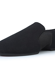 cheap -Women's Dance Shoes Canvas Jazz Shoes Splicing Flat Flat Heel Customizable Black / Performance / Practice