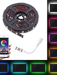 cheap -2M LED Light Strips Patch RGB Tiktok Lights 5050 10mm Waterproof 60 Led Color Flexible Cable With APP Control TV Backlight