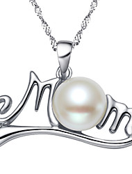cheap -Women's Pendant Necklace Pearl Chrome Silver 45 cm Necklace Jewelry 1pc For Gift Daily