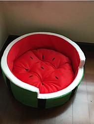 cheap -Dog Cat Mattress Pad Beds Bed Blankets Portable Soft Pet Mats & Pads Fabric Fruit Green