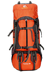 cheap -60 L Rucksack Waterproof Breathable High Capacity Outdoor Hiking Camping Downhill Army Green Orange Blue / Yes