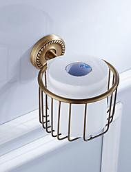 cheap -Toilet Paper Holder New Design Antique Brass 6pcs - Hotel bath Wall Mounted