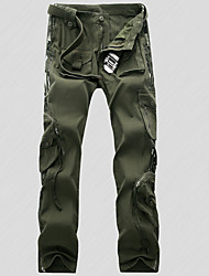 cheap -Men's Hiking Pants Camo Summer Winter Outdoor Breathable Quick Dry Sweat-wicking Multi-Pocket Cotton Pants / Trousers Bottoms Fishing Climbing Camping / Hiking / Caving Black Army Green Camouflage 27