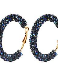 cheap -Women's Blue White Multicolor Hoop Earrings Classic Imagine Hope Blessed Simple Classic Korean Fashion Modern Resin Earrings Jewelry White / Blue / Black / White For Gift Daily Street 1 Pair