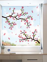 cheap -Window Film & Stickers Decoration Contemporary / 3D Flower / Floral PVC(PolyVinyl Chloride) Window Sticker / Anti-Glare