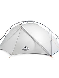 cheap -Naturehike 1 person Family Tent Outdoor Lightweight Windproof Rain Waterproof Double Layered Poled Camping Tent 1500-2000 mm for Camping / Hiking / Caving Traveling Nylon Silica Gel 210*65+85+50*95 cm