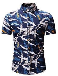 cheap -Men's Shirt - Graphic Blue