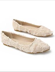 cheap -Women's Suede Spring Flats Flat Heel White / Black / Gray