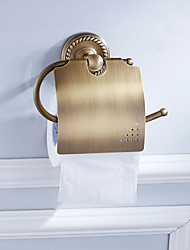cheap -Toilet Paper Holder New Design Antique Brass 6pcs - Hotel bath Wall Mounted
