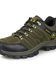 cheap -Men's Sneakers Hiking Shoes Breathable Non-Skid Comfortable Low-Top Hiking Climbing Cross-Country Autumn / Fall Spring Black Brown Army Green