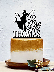 cheap -Cake Topper Classic Theme / Creative / Wedding Personalized / Romantic Acrylic Wedding / Party Evening with Solid 1 pcs OPP