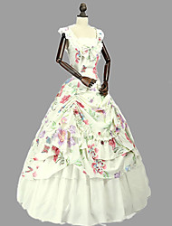 cheap -Princess Rococo Victorian Dress Party Costume Costume Women's Cotton Costume Beige Vintage Cosplay Masquerade Party & Evening Sleeveless Floor Length Long Length Plus Size