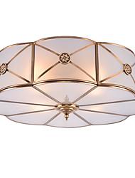 cheap -JSGYlights 4-Light 46 cm New Design Flush Mount Lights Copper Glass Brass Modern 110-120V / 220-240V / E26 / E27