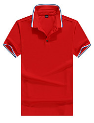 cheap -Men's Hiking Shirt / Button Down Shirts Short Sleeve Outdoor Waterproof Windproof Breathable Quick Dry Shirt Top Autumn / Fall Spring Terylene Camping / Hiking / Caving Traveling Red Orange Green