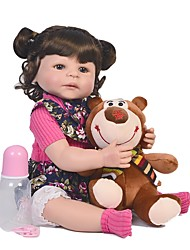 cheap -FeelWind 22 inch Reborn Doll Baby Boy Baby Girl Reborn Baby Doll Kids / Teen Adorable Lovely with Clothes and Accessories for Girls' Birthday and Festival Gifts