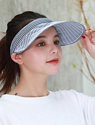 cheap -Women's Active Basic Cute Cotton Polyester Baseball Cap-Striped Spring Summer Navy Blue Yellow Khaki