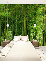 cheap -Mural Wallpaper Wall Sticker Covering Print Adhesive Required Bamboo Forest Canvas Home Décor