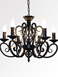 cheap -6-Light 53 cm Candle Style Chandelier Metal Candle-style Painted Finishes Traditional / Classic 110-120V / 220-240V
