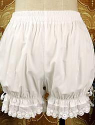 abordables -Style Gothique Sweet Lolita Costume de Cosplay Femme Dentelle Japonais Costumes de Cosplay Blanc / Noir Couleur Pleine