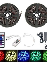 cheap -10M Smart LED Light Strips RGB Tiktok Lights TV Background Light WIFI SMD 5050 10mm 24Keys 300LED IP65 Waterproof DC5V With 5A US