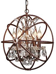abordables -Globe 4-lumière / bougie industrielle lumière ambiante lustre peint termine en métal créatif 110-120v / 220-240v